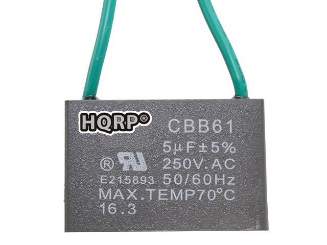 250VAC Motor Ceiling Fan Capacitor CBB61 5uf+5uf 4-Wire Rated Voltage