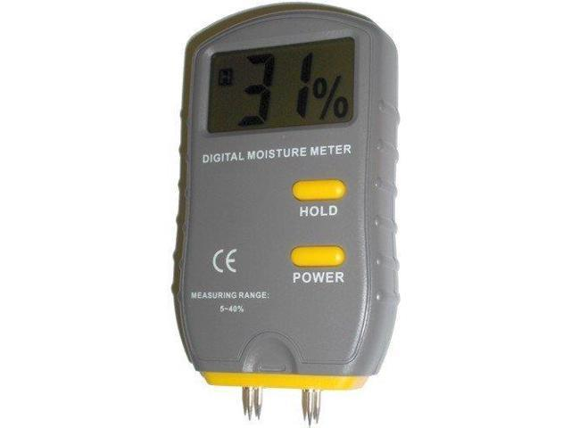 HQRP 2-Pin JT-2G Scanner and Probe Moisture Wood Meter and Home Inspection Tools plus UV Chain//UV Health Meter
