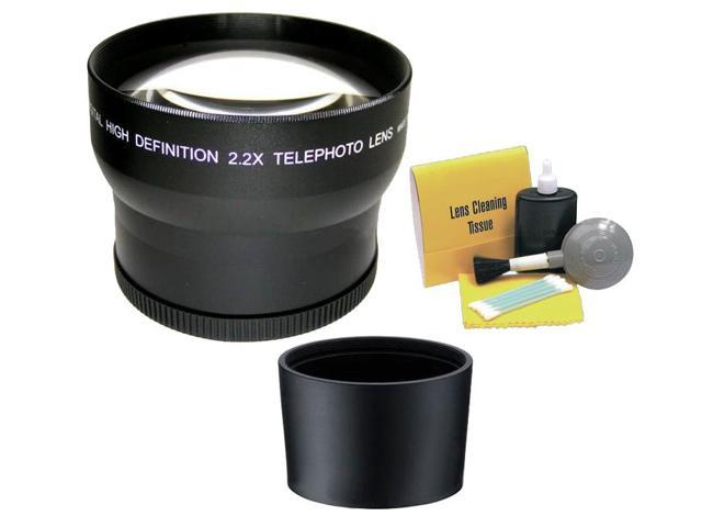 Optics 2.0x High Definition Telephoto Conversion Lens for Panasonic Lumix DMC-FZ45 Includes Lens Adapter