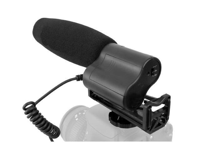 with Dead Cat Wind Muff Stereo//Shotgun Nikon D5600 Advanced Super Cardioid Microphone