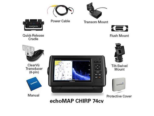 Garmin echoMAP? CHIRP 74cv With Transducer, CHIRP ClearV?? sonar technology  and 5 Hz GPS/GLONASS receiver - Newegg com