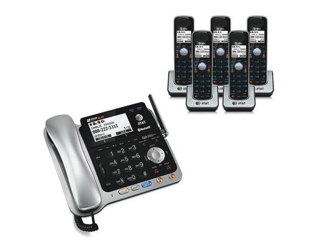 At T Tl86109 4 Tl86009 Digital Answering System W 2 5mm Headset Jack Newegg Com
