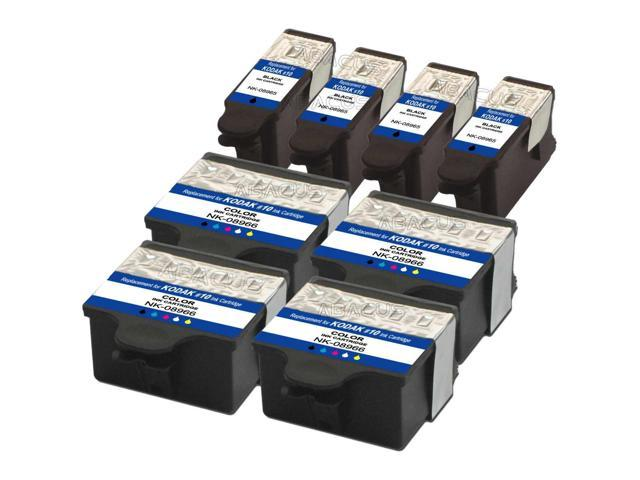 8-PACK Compatible Kodak #10 (Black 1215581+Color 1810829) Ink Cartridges  for EasyShare 5000, 5100, 5300, 5500, ESP