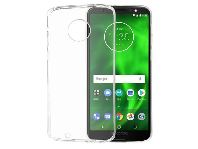 detailed pictures f2df7 ddd8d Abacus24-7 - Motorola Moto G6 Case, Slim Fit Transparent TPU Protective  Skin Back Cover - Clear - Newegg.com