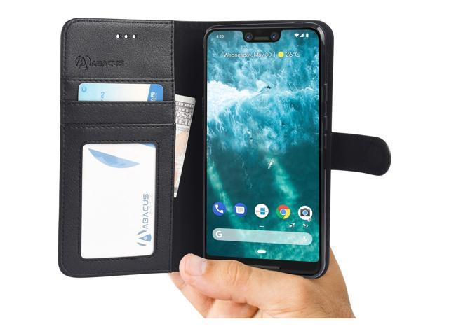 best service 5cec7 64aca Abacus24-7 - Google Pixel 3 XL Phone Case, Pixel 3XL Leather Wallet Case  with Flip Cover, Credit Card Pockets and Built-In Stand [Black] - Newegg.com
