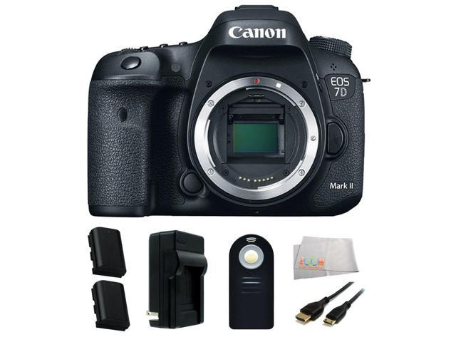 Canon EOS 7D Mark II Digital SLR Camera (Body Only) Accessory Kit  Includes  2 Extended Life Replacement Batteries(LP-E6N) + Charger + Mini HDMI Cable