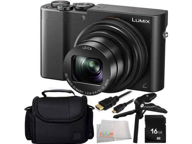 Panasonic Lumix DMC-ZS100 Digital Camera (Black) 16GB Bundle 5PC Accessory  Kit Includes 16GB Memory Card + Pistol Grip/Table Top Tripod + Micro HDMI