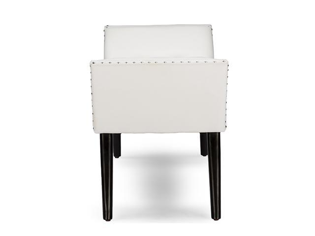 Peachy Baxton Studio Tamblin Modern And Contemporary White Faux Andrewgaddart Wooden Chair Designs For Living Room Andrewgaddartcom