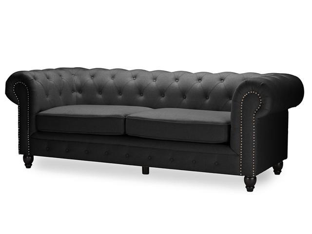 Surprising Baxton Studio Cassandra Modern Classic Rolled Arm Grey Gamerscity Chair Design For Home Gamerscityorg