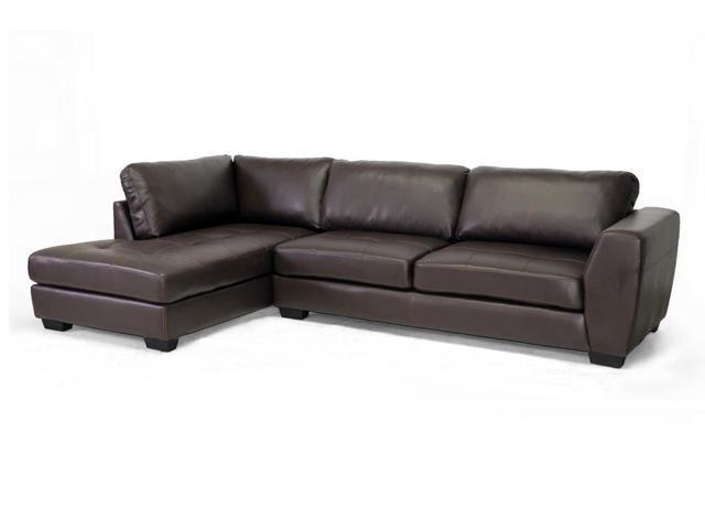 Baxton Studio Orland Brown Leather Modern Sectional Sofa Set with Left  Facing Chaise - Newegg.com