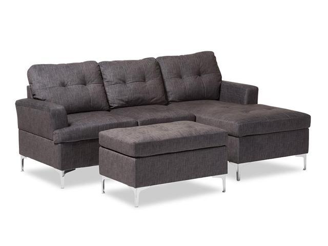 Modern And Contemporary Grey Fabric