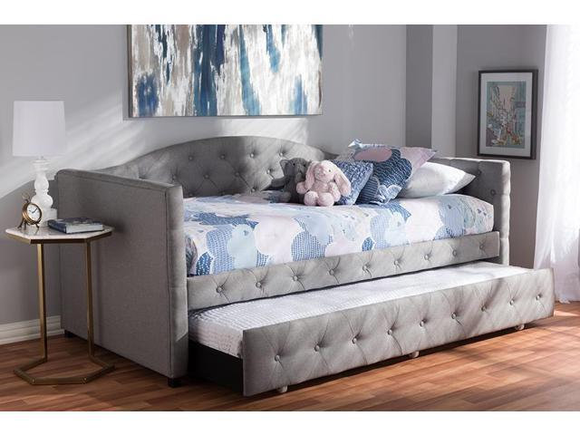 Sensational Baxton Studio Gwendolyn Modern And Contemporary Grey Fabric Upholstered Daybed With Trundle Newegg Com Ocoug Best Dining Table And Chair Ideas Images Ocougorg