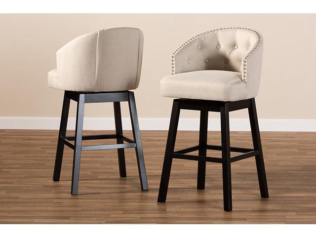 Swell Baxton Studio Theron Transitional Light Beige Fabric Uwap Interior Chair Design Uwaporg