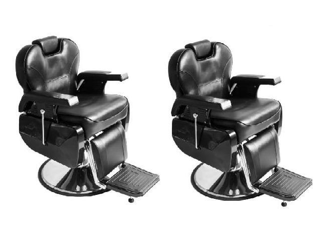Incredible Set Of 2 Taft Barber Chair Black Reclining Barber Chair W Adjustable Height Adjustable Head Rest And Comfortable Wide Seat For Barbershop Beauty Interior Design Ideas Inesswwsoteloinfo