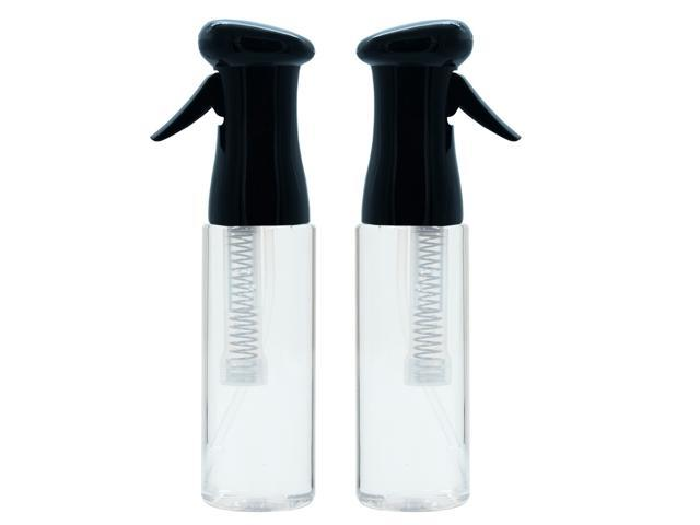 1fc68b387d1b KEEN Continuous Spray Bottle, 12.2 OZ Fine Mist for Hair Styling, Barber,  Plants, Refillable Empty Water Bottle Trigger Sprayer Set, Black/Clear, 2  ...