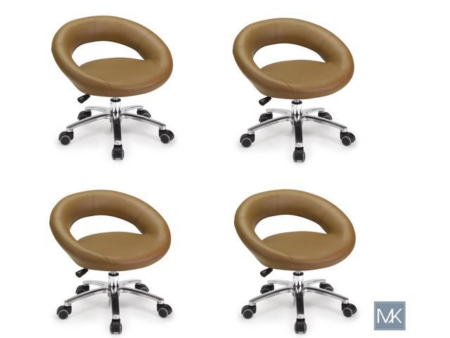 Outstanding Set Of 4 Salon Nail Pedicure Stool Harmony Cappuccino Pedicure Chair Pneumatic Adjustable Rolling Salon Furniture Equipment Ibusinesslaw Wood Chair Design Ideas Ibusinesslaworg