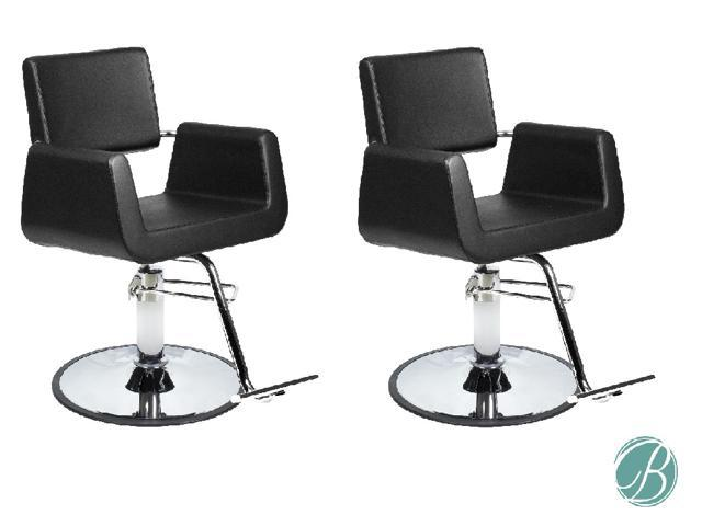 Prime Set Of 2 Beauty Salon Styling Chair Aron Black A12 Square Wide Width Styling Chair Beauty Salon Furniture Equipment Newegg Com Interior Design Ideas Inesswwsoteloinfo