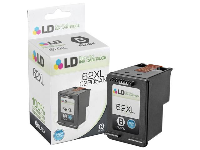 LD © Remanufactured Replacement for Hewlett Packard C2P05AN / HP 62XL HY  Black Ink Cartridge for HP ENVY 5640, 5642, 5643, 5644, 5646, 5660, 7640,