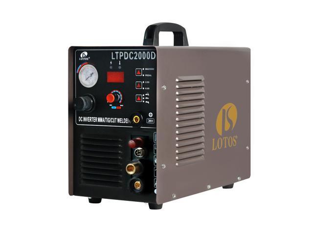 Lotos LTPDC2000D Plasma Cutter Tig Stick Welder 3 in 1 Combo Welding  Machine, 50Amp Non-Touch Pilot Arc Plasma Cutter, 200A TIG/ Stick Welder  Dual