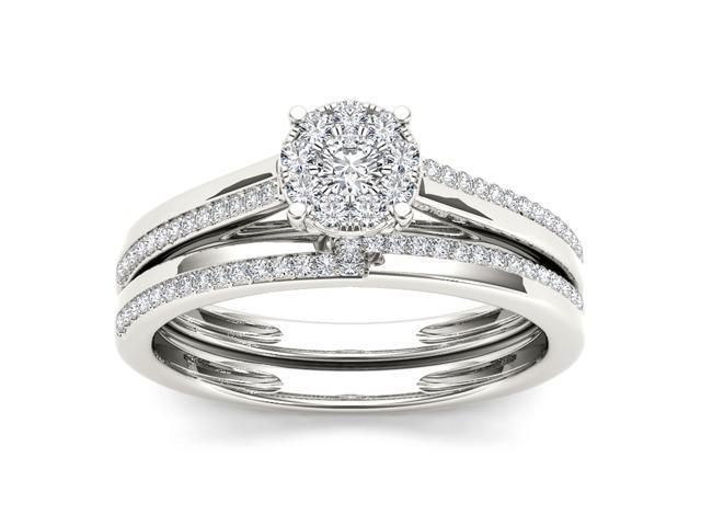 H K Designs 10k White Gold 1/3ct TDW Imperial Diamond Engagement Ring (H-I,  I2) - Newegg com