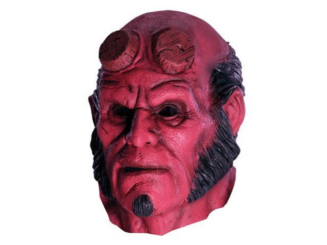 full overhead marvel comic hellboy hell boy red devil halloween costume mask