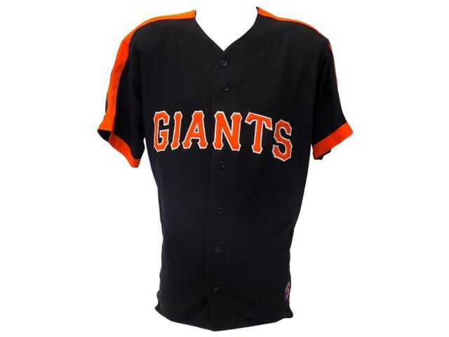 buy popular 1dfbe cbe52 San Francisco Giants Majestic Cooperstown Collection Black Jersey Size  Large - Newegg.com