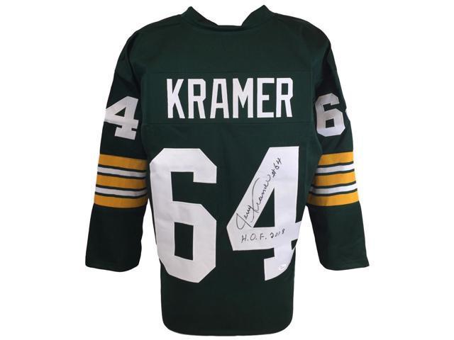 1f9c8d5a3bc48 Sports Integrity 22704 Jerry Kramer Signed Custom Pro-Style Football Jersey  HOF 2018 JSA,