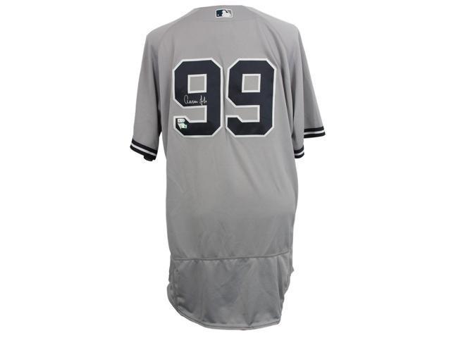 timeless design c59dd 86a8d Aaron Judge Signed Yankees Majestic Flex Base Auth Grey Baseball Jersey FAN  MLB - Newegg.com