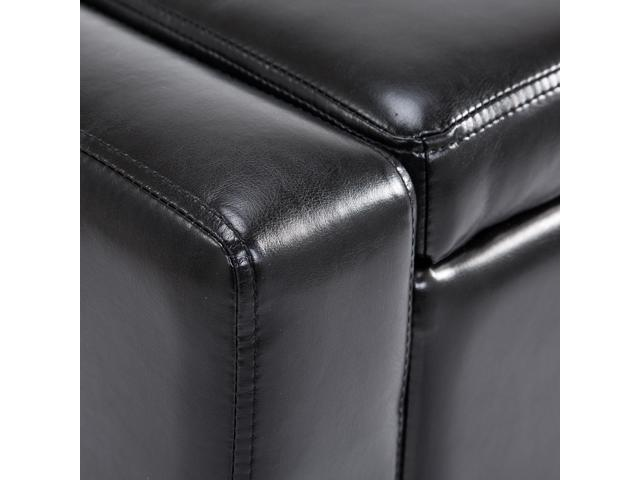 Miraculous Storage Benches Black Homcom 833 200Bk 42 Deluxe Faux Pdpeps Interior Chair Design Pdpepsorg