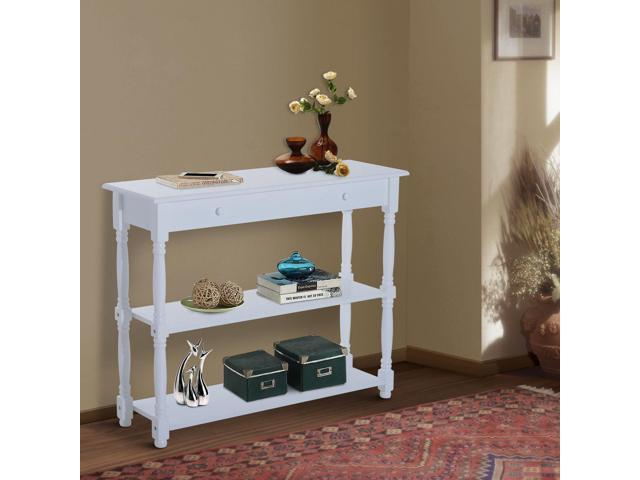 Homcom Entryway Wood Console Table With