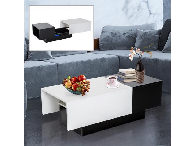 Coffee Table With Sliding Top Storage.Modern Rectangle Coffee Table Hidden Storage Trunk Slide Top Living Room Newegg Ca