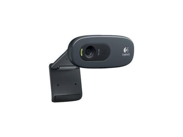 Logitech C270 USB 2.0 HD Webcam - Black - Newegg.com