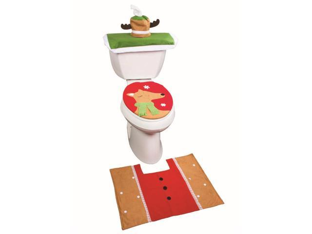 Christmas Bathroom Set Christmas Bathroom Rug Toilet Seat Cover