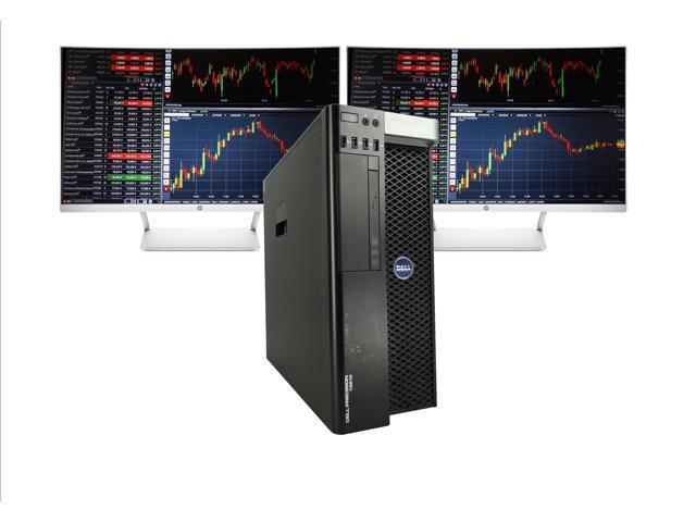 Refurbished: Dell Precision T3610 Day Trading PC, 2x 27