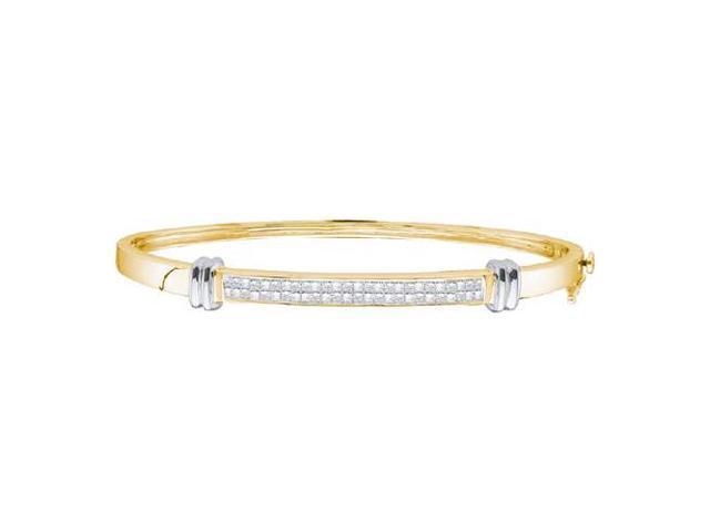 b1b12d3801142 14k Two Tone Gold 1.00 Ctw Diamond Invisible Bangle Bracelet - Newegg.com