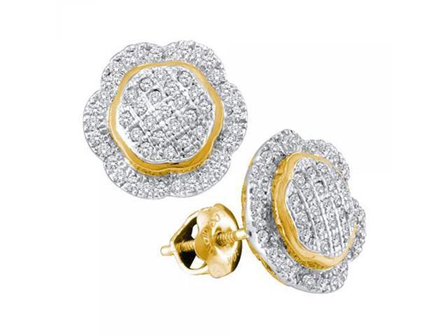 0.10CTW DIAMOND MICRO PAVE HOOPS