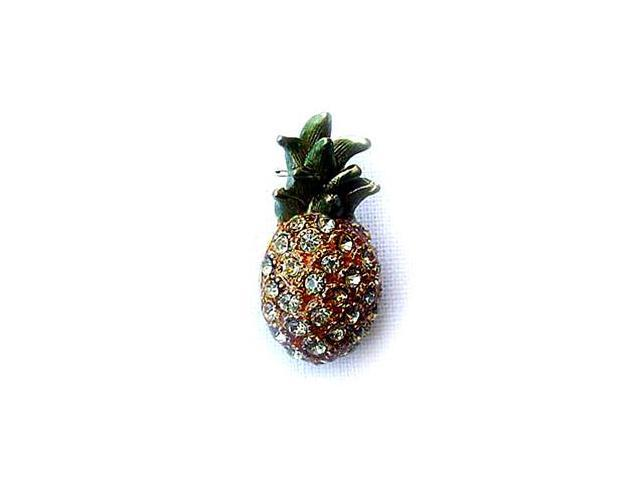 24k Gold-Plated Swarovski Crystal Pineapple Design Brooch/Pin (1/2 x 1) -  Gift Boxed - Newegg com
