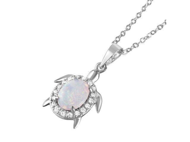 Oval White Opal /& Cz .925 Sterling Silver Pendant