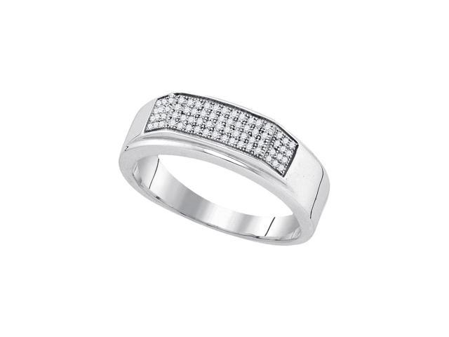 0 20 Ctw Diamond 925 Sterling Silver Mens Round Diamond Micropave