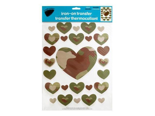 123-Wholesale: Set of 96 Iron-On Camouflage Hearts Transfers (Crafts, Craft  Embellishments) - Newegg com