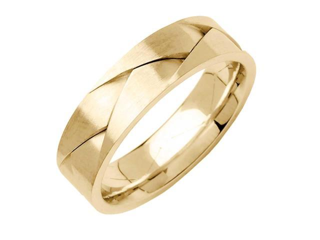 79b3b0b294330 18K Yellow Solid Gold Comfort Fit Men's and Women's Wedding Band Ring - 6mm  - Newegg.com