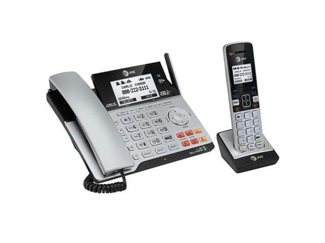AT&T TL86103 2Line Corded Cordless Answering System - Newegg com