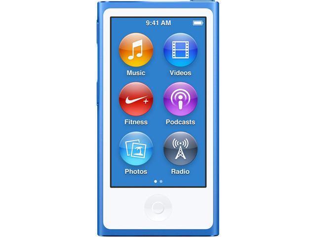 Apple Mkn02ll A Ipod Nano 16gb 8th Generation Blue Newegg Com
