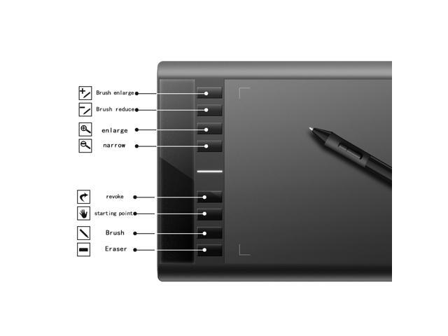 Ugee M708 Graphics Tablet with Digital Drawing Pen 10 x 6 Inch Working Area  (Black) - Newegg com