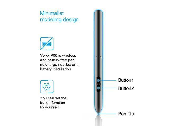 OSU!Ultrathin Tablet VEIKK S640 6x4 Inch Digital Drawing Pen Tablet with  Battery-free Pen (8192 Levels Pressure) - Newegg com