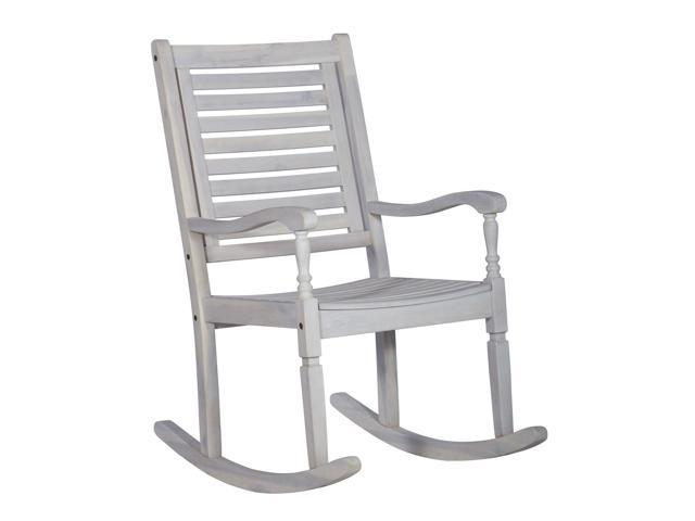 Patio Wood Rocking Chair White Wash