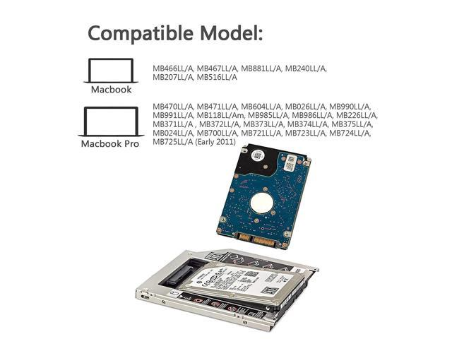 Portable SATA HDD SSD Hard Drive Caddy Bay for MacBook Pro 13//15//17 Inch BU