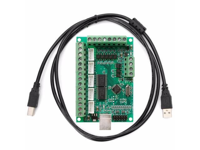 CNC USB MACH3 100Khz Breakout Board 5 Axis Interface Driver Motion  Controller AP16 - Newegg com