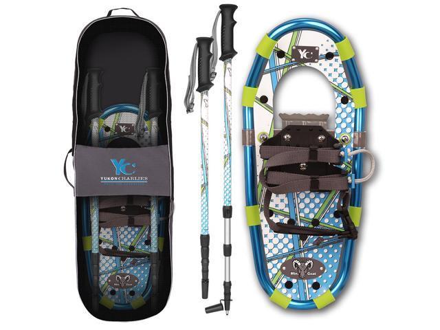 Yukon Charlie's Junior Aluminum Snowshoes kit w/Poles (kids