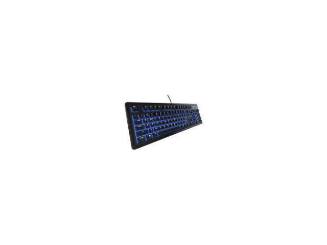 Media Controls Tactile /& Silent SteelSeries Apex 100 Gaming Keyboard Renewed Blue LED Backlit Splash Resistant